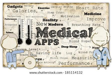 New Modern Medical Revolution on Old Paper - stock photo