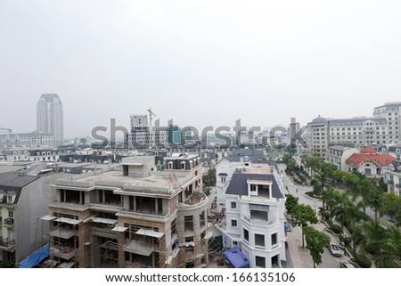 new modern skyline in Keangnam area, Tu Liem district, Hanoi, Vietnam