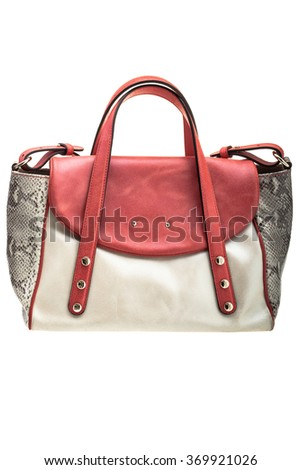 New modern womens bag isolated on white background.