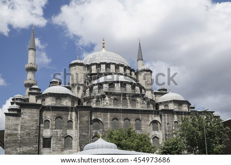 New Mosque (Yeni Cami) in Eminonu district of Istanbul in Turkey.