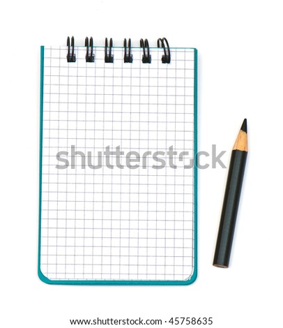 new notebook isolated on a white isolated background. Studio