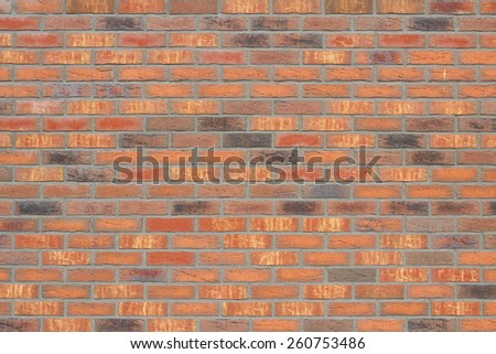 New orange bricks wall texture background - stock photo
