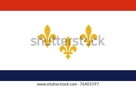New Orleans city flag, state of Louisiana, U.S.A. - stock photo