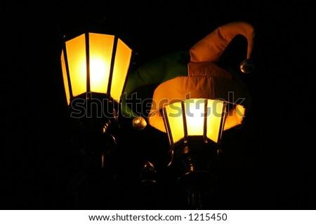 New Orleans Festive Lights - stock photo
