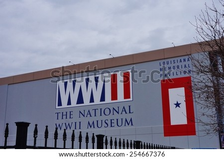 NEW ORLEANS, LA  20 FEBRUARY 2015 The National World War II Museum, affiliated with the Smithsonian Institution, opened in June 2000 in New Orleans, Louisiana. - stock photo