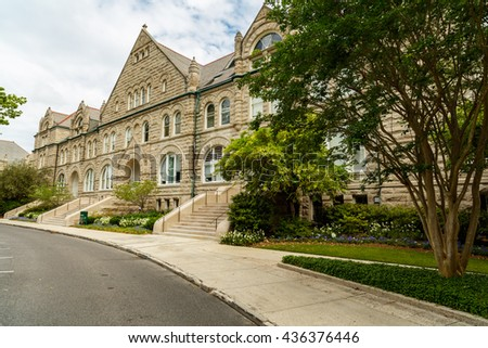 New Orleans, LA USA - April 21,2016: Tulane University, founded in 1834, is a private nonsectarian research university located in New Orleans.