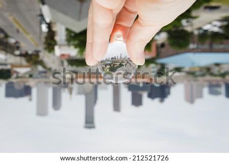 New Orleans skyline flipped - stock photo