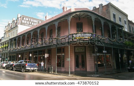 NEW ORLEANS, USA - FEB 2: Historic building in the French Quarter in New Orleans, USA on February 2 2008. Tourism provides a large source of revenue after the 2005 devastation of Hurricane Katrina.
