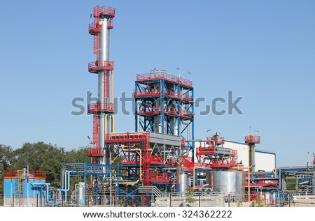 new petrochemical plant oil industry - stock photo