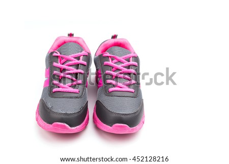 New pink sport shoe isolated on white background