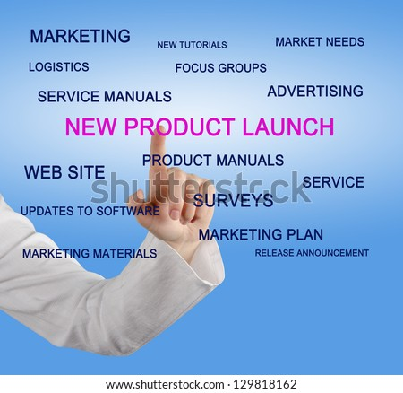 New product launch - stock photo