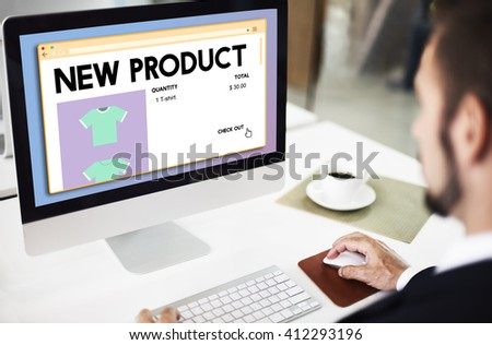New Product Launch Promotion Marketing Services Concept - stock photo