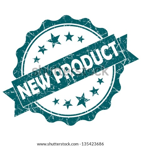 new product stamp - stock photo
