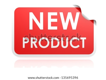 New product sticker - stock photo