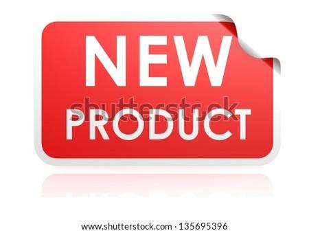 New product sticker - stock photo