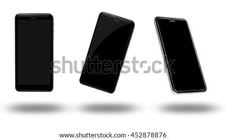 New realistic mobile phone  over white background