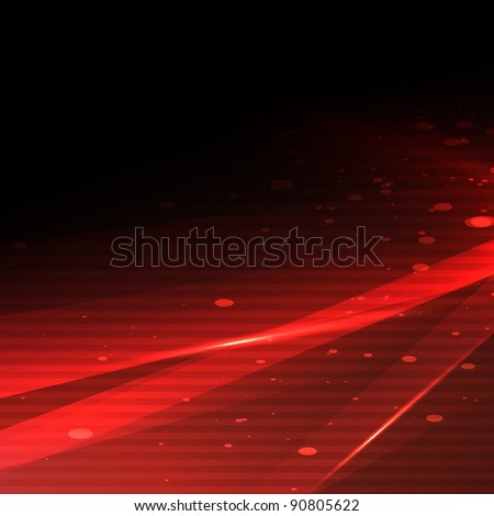 New red abstract background - stock photo