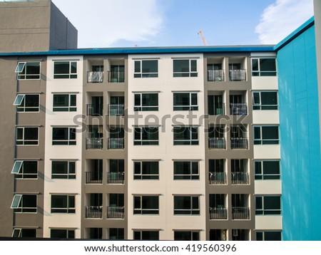 New Residential Condominium Building, Modern building - stock photo
