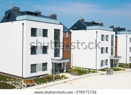 new residential development in Poland- Sopot - stock photo