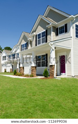 New residential houses - stock photo