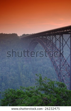 New River Bridge - stock photo