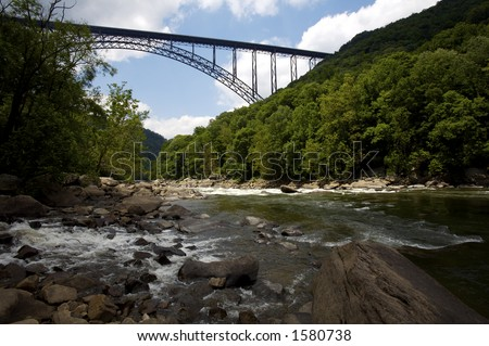 New River Bridge in West Virginia - stock photo