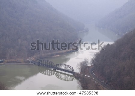 New River Gorge - stock photo