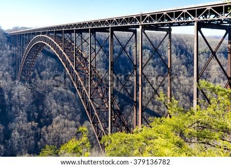 New River Gorge Bridge, West Virginia - stock photo