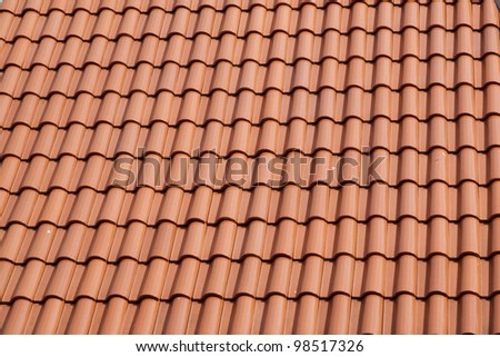 New roof tiles closeup detail - stock photo