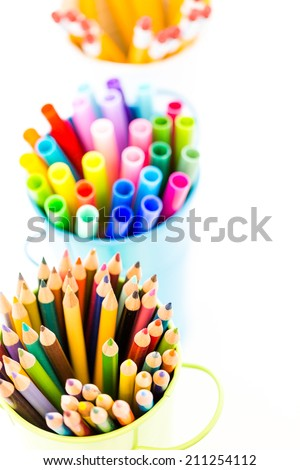 New school supplies prepared for new school year.