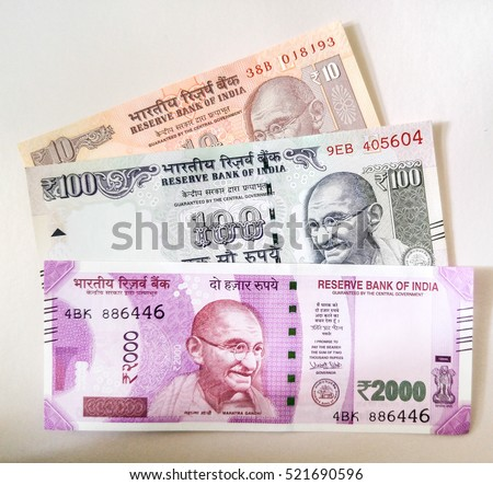 New series of 2000 Indian rupee currency, published on November 9.