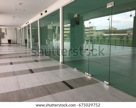 New Shop Glass Door Stock Photo Royalty Free 675029752 Shutterstock