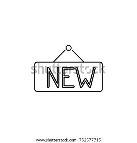 New Sign Line Icon Real Estate Stock Illustration 752577715