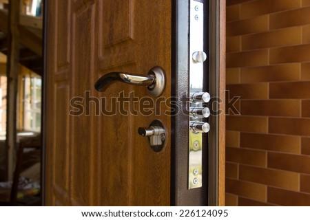 New Steel Three Bolt Door Lock Stock Photo 226124095 - Shutterstock