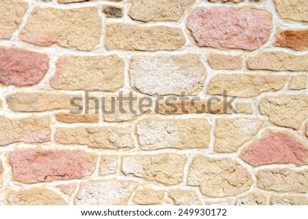 New stone wall various colors, texture background - stock photo