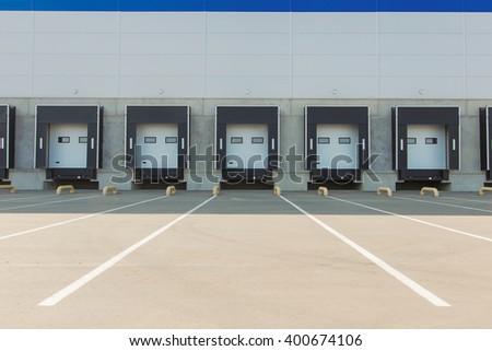 New Storage entrances - stock photo