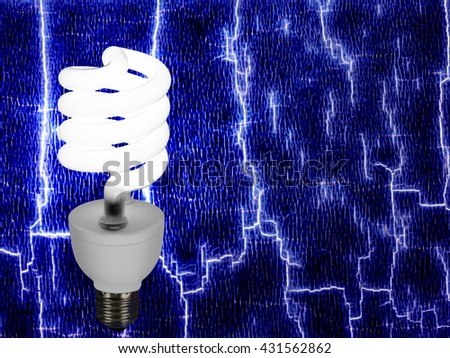 New style light bulb on abstract background. Power, energy etc. - stock photo