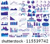 NEW STYLE WEB ELEMENTS INFOGRAPHIC DEMOGRAPHIC PURPLE - stock vector