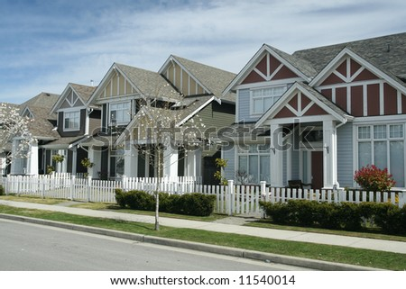 New Suburban Single Family Homes - stock photo