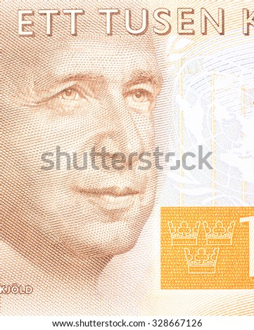 New Swedish 1000 SEK  bank note. NOTE: the new 2015 model. - stock photo