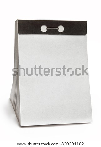 New tear-off calendar with a blank sheet of paper - stock photo
