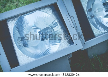 new technology and modern designed of spotlight - stock photo