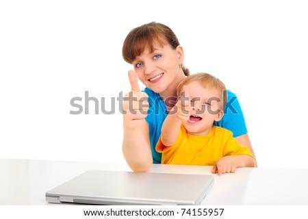 New technology - new generation - stock photo