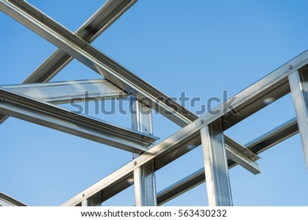 New Technology Steel Frame Construction Stock Photo (Download Now ...