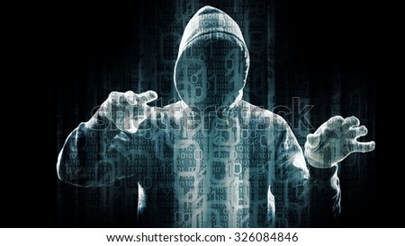 New technology virus attack, hacker breaking admin password