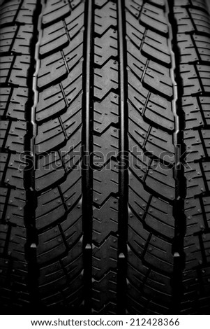 New tire textured - stock photo