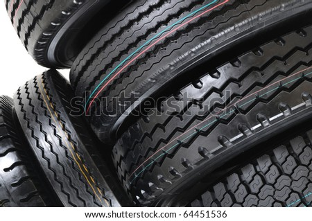 New tires. - stock photo