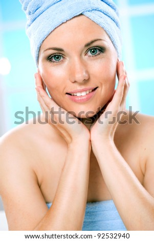 new tools for body care - stock photo