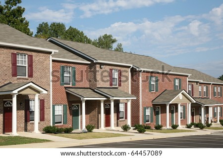New townhouse complex - stock photo