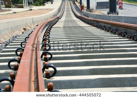 New tramway track